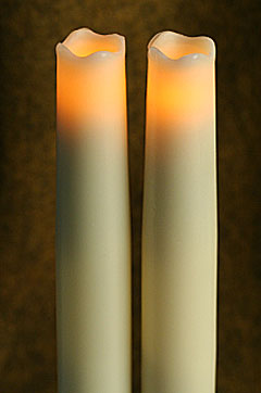 9 Inch Ivory Taper Candles Set Of 2 Melted Edge Shop Now
