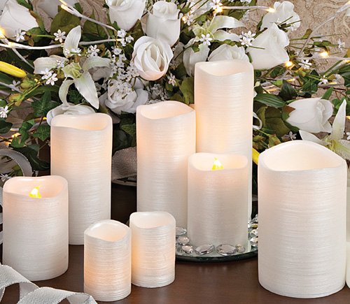 Flameless Wedding Candles