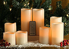 flameless candles with remote Remote Control Flameless Candles   3 x 6 Inch flameless candles with remote