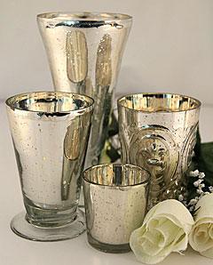 Silver Mercury Glass Votive Holder Set Of 6 Shop Now
